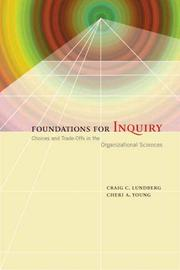 Cover of: Foundations for inquiry | Craig C. Lundberg