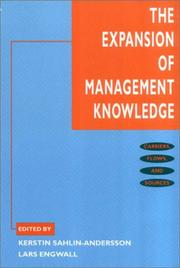 Cover of: The Expansion of Management Knowledge |