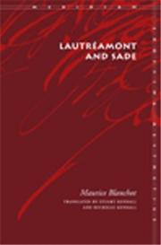 Cover of: Lautreamont and Sade