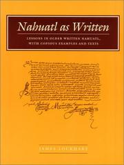 Cover of: Nahuatl as Written | James Lockhart