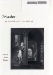 Cover of: Privacies