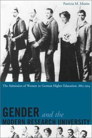 Cover of: Gender and the Modern Research University