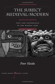 The Subject Medieval/Modern by Peter Haidu
