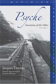 Cover of: Psyche: Inventions of the Other, Volume I (Meridian: Crossing Aesthetics)