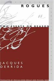 Cover of: Rogues: Two Essays on Reason (Meridian: Crossing Aesthetics)