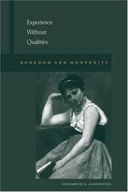 Cover of: Experience Without Qualities