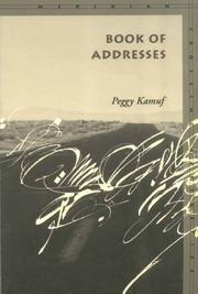 Cover of: Book of Addresses (Meridian: Crossing Aesthetics)