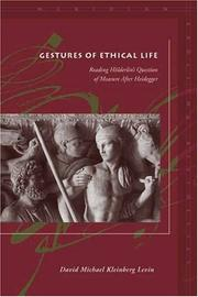 Cover of: Gestures of Ethical Life: Reading Holderlin's Question of Measure After Heidegger (Meridian: Crossing Aesthetics)