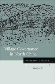 Cover of: Village Governance in North China