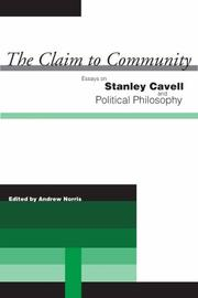 Cover of: The Claim to Community | Andrew Norris