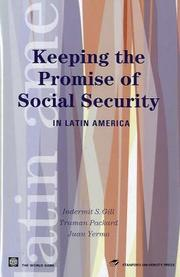 Cover of: Keeping the Promise of Social Security in Latin America (American Development Forum) | Indermit Gill