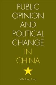 Cover of: Public Opinion and Political Change in China | Wenfang Tang