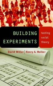 Cover of: Building Experiments | David Willer
