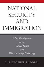 Cover of: National Security and Immigration