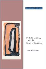 Cover of: Beckett, Derrida, and the Event of Literature (Cultural Memory in the Present)