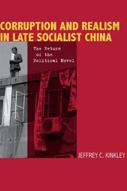 Cover of: Corruption and Realism in Late Socialist China