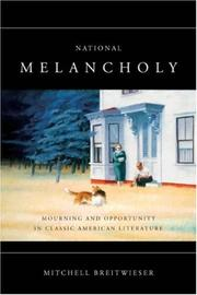 Cover of: National Melancholy
