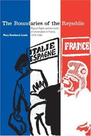 Cover of: The Boundaries of the Republic | Mary Dewhurst Lewis