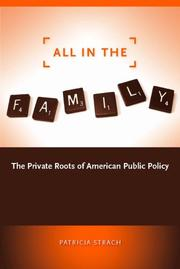 Cover of: All in the Family | Patricia Strach