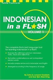Indonesian in a flash, volume 1