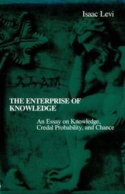 Cover of: The enterprise of knowledge