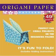 Cover of: Origami Paper Pattern