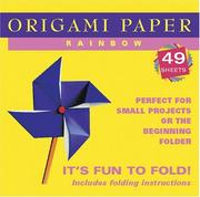 Cover of: Origami Paper Rainbow
