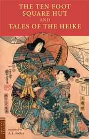 Cover of: Ten Foot Square Hut And Tales of the Heike | A. L. Sadler