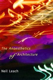 Cover of: The anaesthetics of architecture