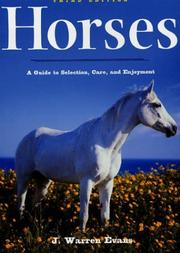 Cover of: Horses, 3rd Edition | J. Warren Evans
