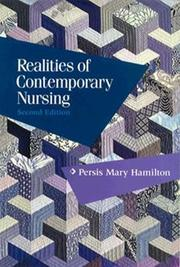 Realities of contemporary nursing by Persis Mary Hamilton