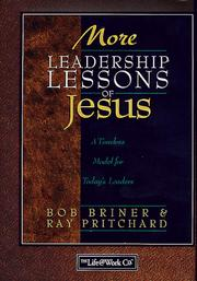 Cover of: More leadership lessons of Jesus