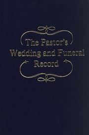 Cover of: Pastors Wedding & Funeral Reco: |