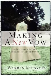 Cover of: Making a new vow | Joseph Warren Kniskern