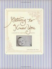 Cover of: Getting to Know You
