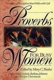 Cover of: Proverbs for Busy Women