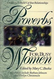 Cover of: Proverbs for Busy Women :Relationships