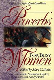 Cover of: Proberbs for Busy Women