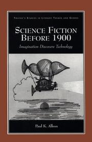 Cover of: Science fiction before 1900 | Paul K. Alkon