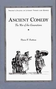 Cover of: Ancient comedy