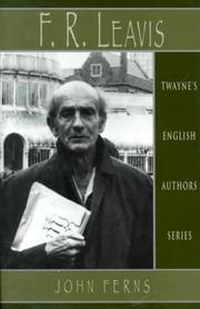 Cover of: F.R. Leavis