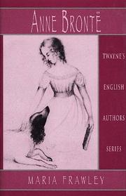 Cover of: Anne Brontë