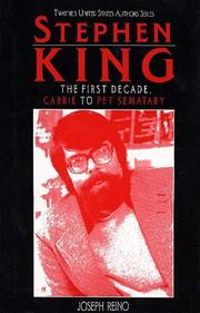 Cover of: United States Authors Series - Stephen King, First Decade (United States Authors Series)