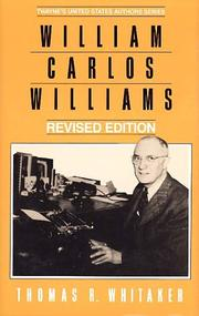 Cover of: William Carlos Williams | Thomas R. Whitaker
