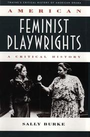 Cover of: American feminist playwrights