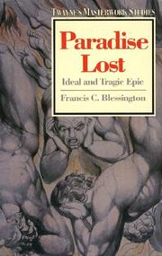 Cover of: Paradise lost | Francis C. Blessington