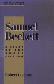 Cover of: Samuel Beckett | Cochran, Robert