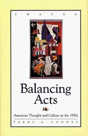 Cover of: Balancing acts | Terry A. Cooney
