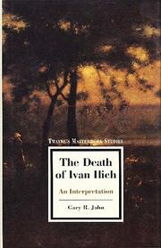 Cover of: The death of Ivan Ilich | Gary R. Jahn