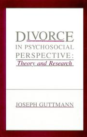 Cover of: Divorce in Psychosocial Perspective